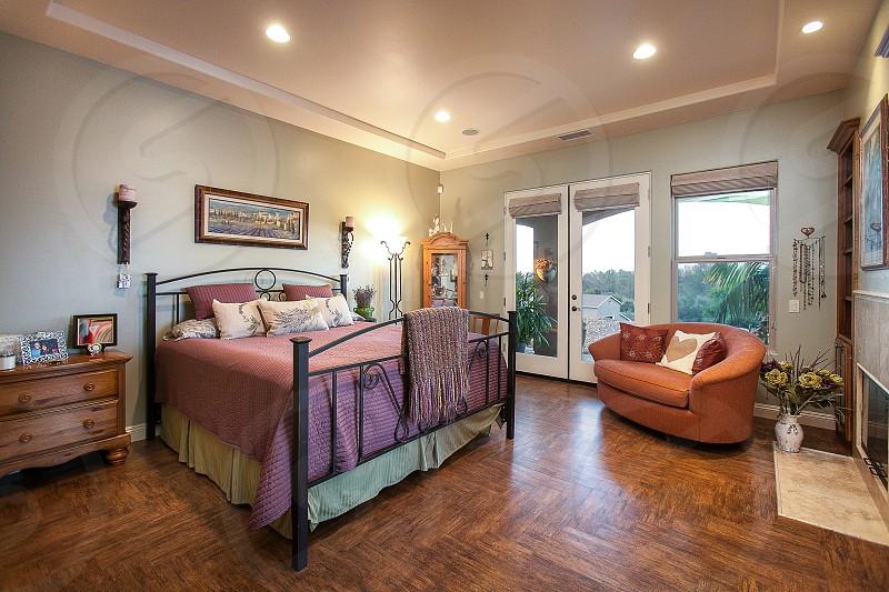 Luxury residence with wood floors photo