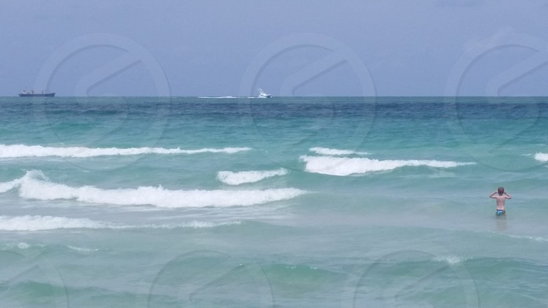 The waves of Miami's South Beach photo