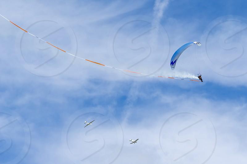 Powered hang glider at Shoreham Airshow photo
