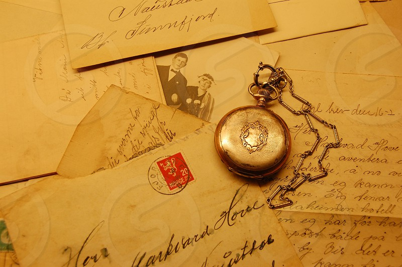 silver pocket watch photo