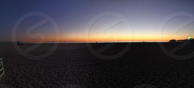 Santa Monica sunset photo