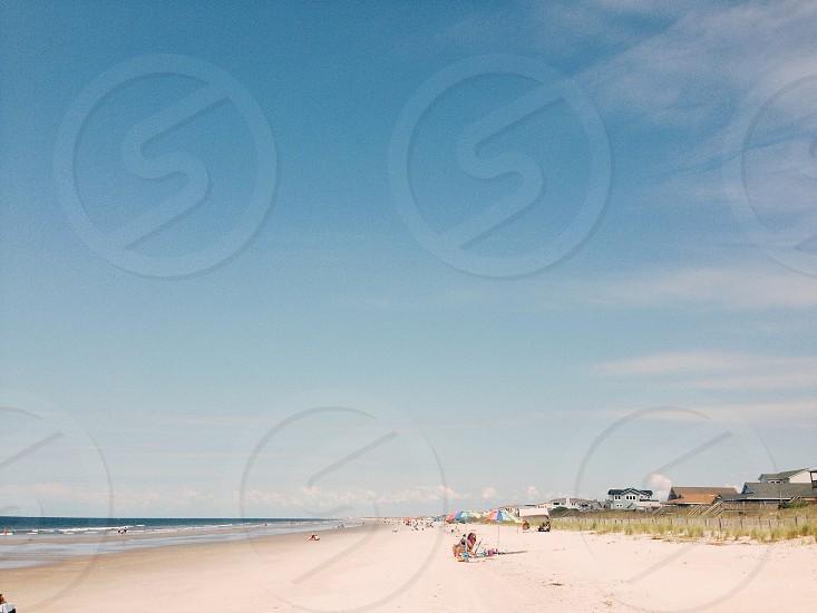 brown sandy beach photo