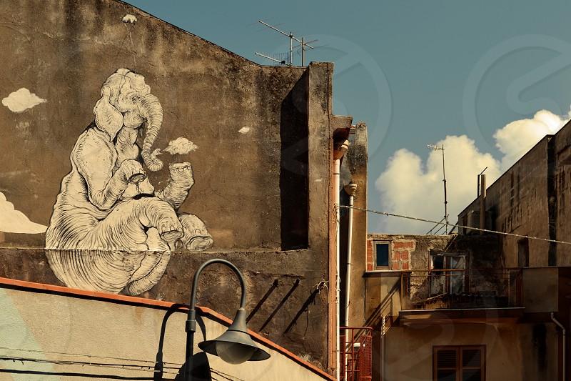 Mural Sicily Italy photo