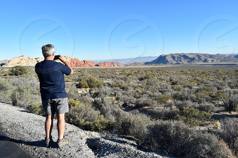 Red Rock Mojave desert Nevada USA. photo