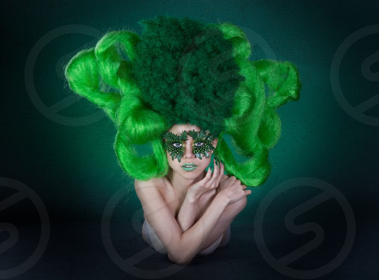 Broccoli  Model: Agnes Liong Makeup artist and hairstylist: Nomi Nguyen Photographer: Eric Raeber photo