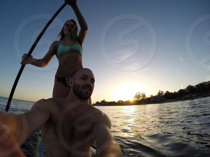 Paddle boarding in Santa Barbara photo