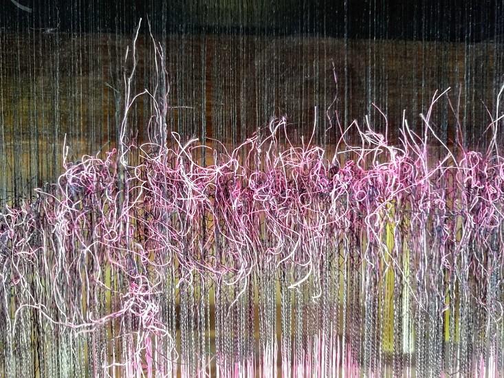 weaving silk photo