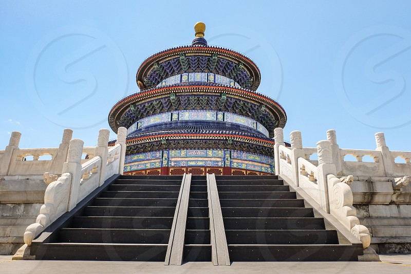 The Temple of Heaven in Beijing China. photo