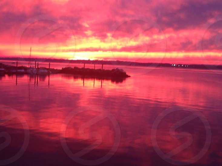 New Haven CT - Morris Cove - Long Island Sound - Sunset No Filter photo