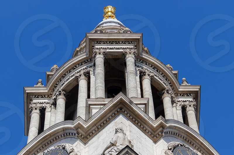 LONDON/UK - MARCH 21 : Close up View of St Pauls Cathedral in London on March 21 2018 photo