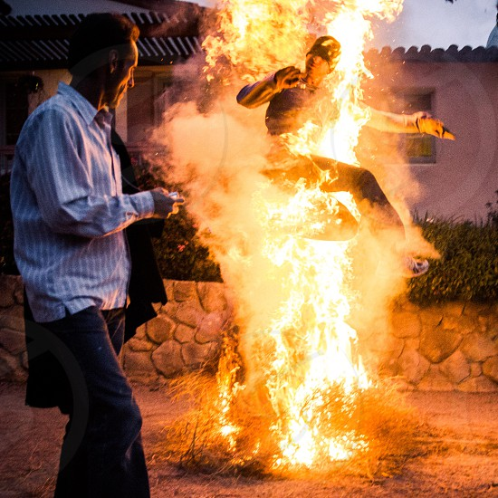 fire jumping fire noruz persian new years iran hot photo