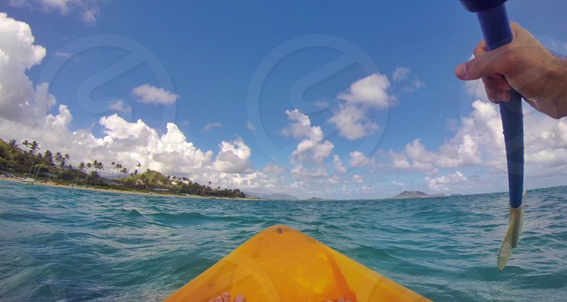 A first person adventure on a kayak in Hawaii photo