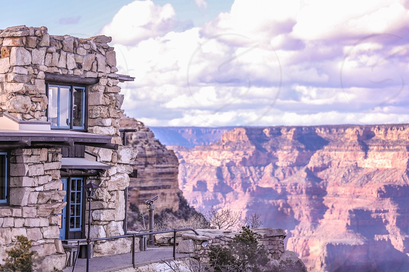 canyongrand canyonscenerysceniclandscaperockstonenaturedesertmountainskyarchitecturewindowswindowtelescope photo