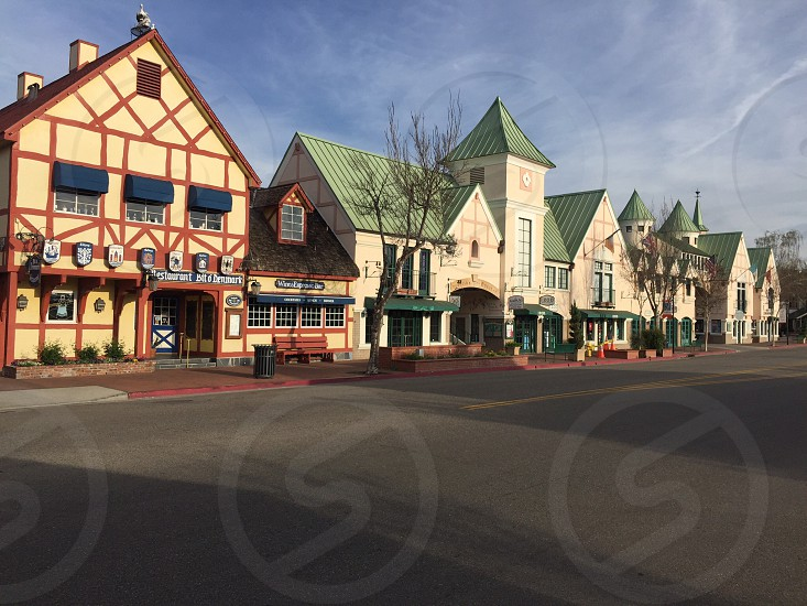 Beautiful Solvang town in California photo