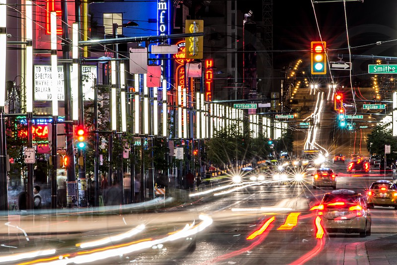Granville Street at night 2 photo