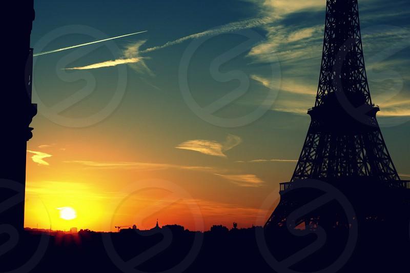 Sunset france paris  photo
