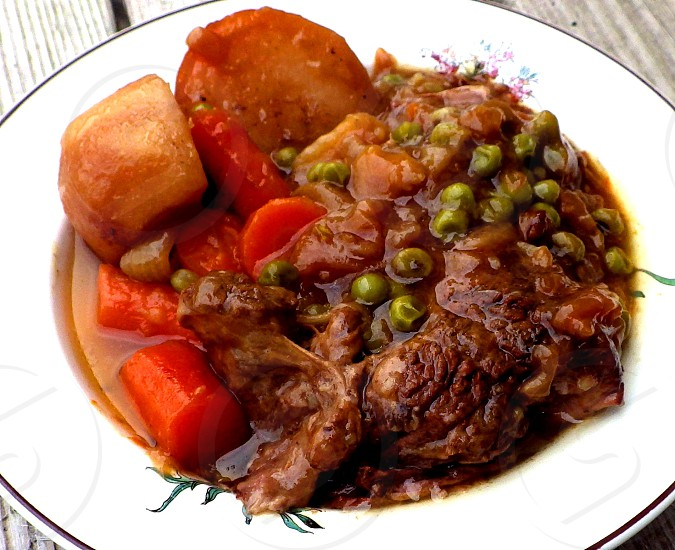 Beef Stew in a bowl photo