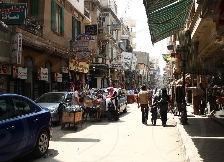 Walking in Mansoura Egypt photo