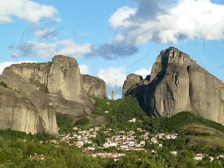 Greece Meteora rocks photo