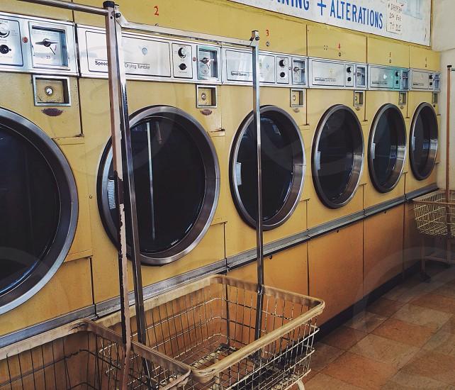 tan front-loading washing machines photo