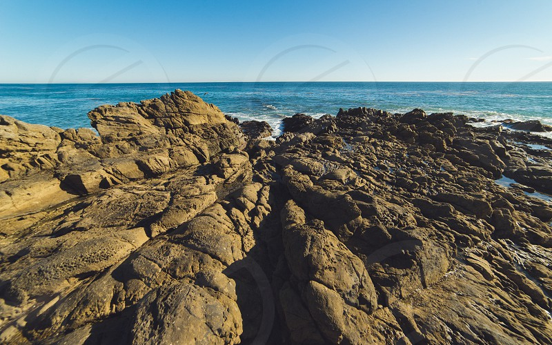 Rock Formation in the Ocean photo