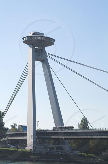 Bridge of the Slovak National Uprising in Bratislava Vertical photo