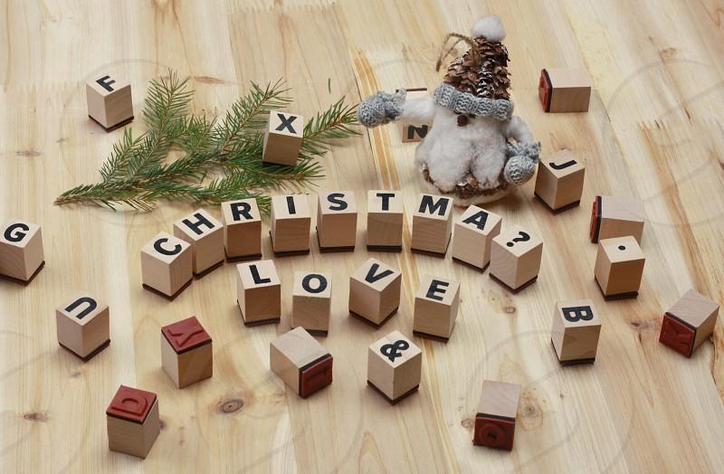 Christmas Scrabble game 1 photo