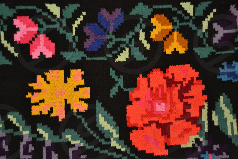 Flowers textile photo