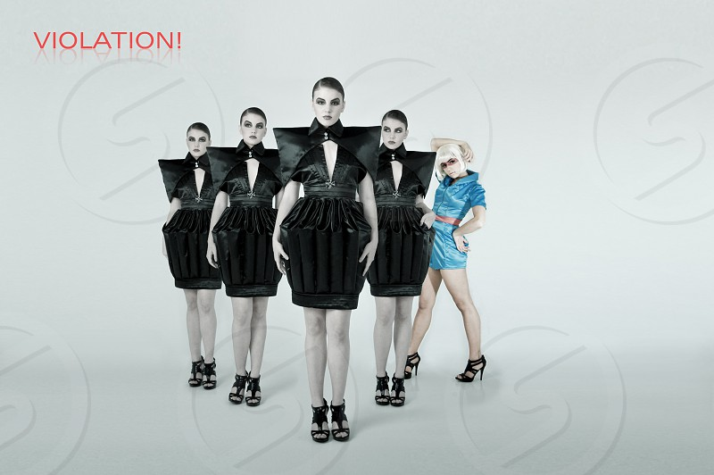 pattern repetition fashion portrait model editorial face skin hair make up avant garde trendy hip female woman women glamour photo