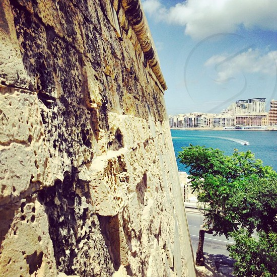 Bastion wall Valetta Malta  photo