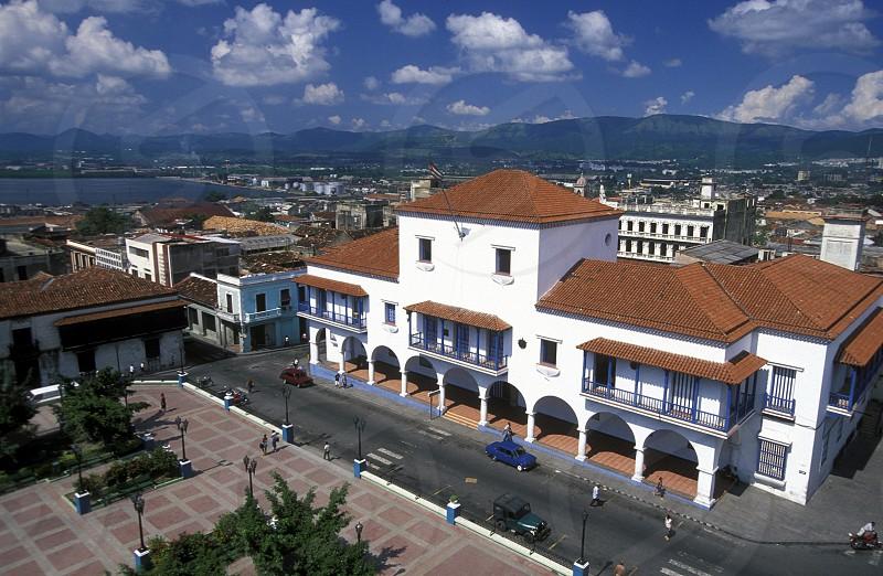 the Casa de Diego Velazquez in the city centre in the city of Santiago de Cuba on Cuba in the caribbean sea. photo