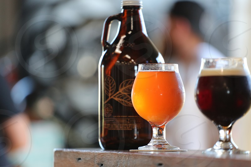 Craft beer with a growler photo