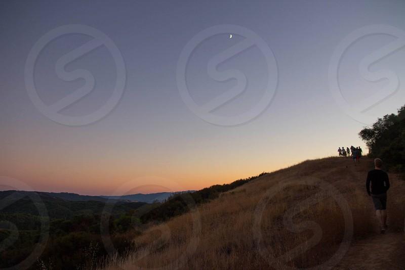 ukiah sunset hills mountain hike field camping photo