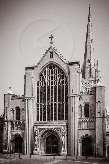 Exterior View of Norwich Cathedral photo