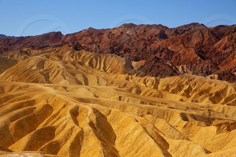 Death Valley National Park California Zabriskie point eroded mudstones photo