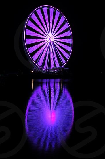 purple carnival ride photo