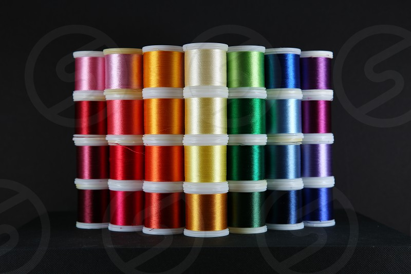 embroiderythreadsewingcraftsrainbow photo