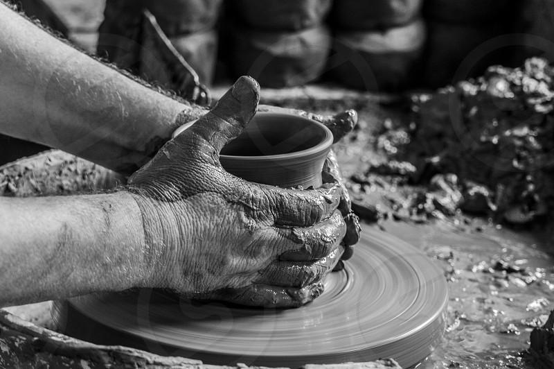 potter artist clay pot handcraft handmade photo