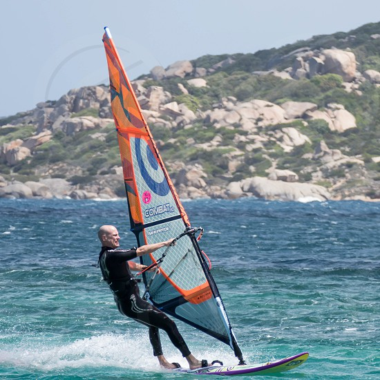 Windsurfing at Porto Pollo in Sardinia photo