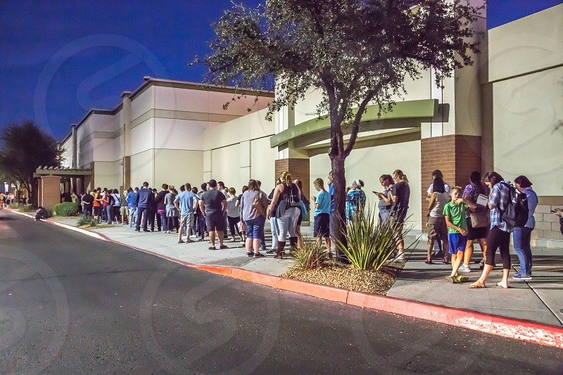 Shoppers lined up on Black Friday photo