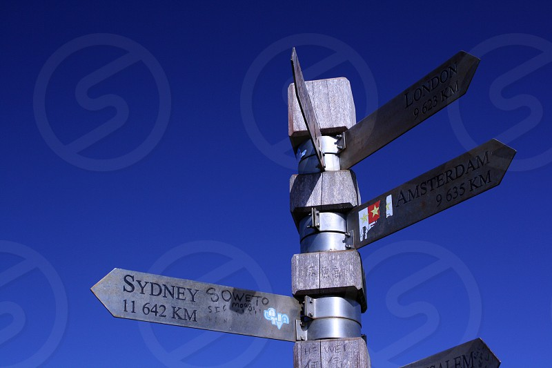 Cape of Good Hope South Africa Sydney Amsterdam Sign photo
