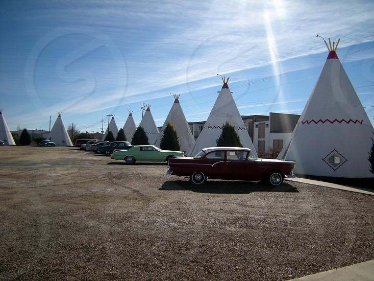 Teepee style motel photo
