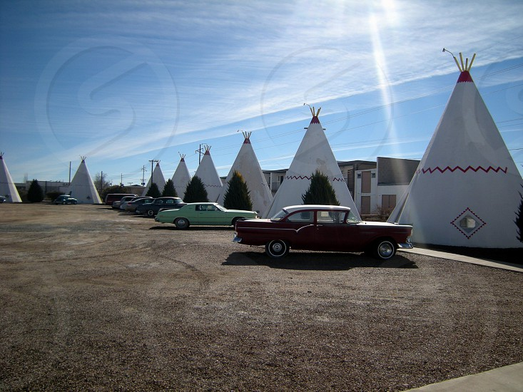 Teepee style motel photo