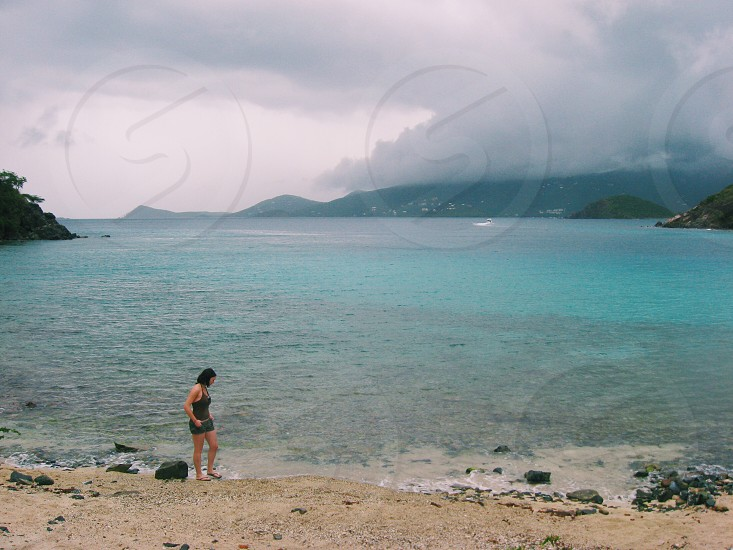 Virgin Islands water tropical storm pensive mountains explore travel beach vacation photo