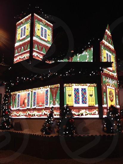 Holiday lights shopping mall christmas photo