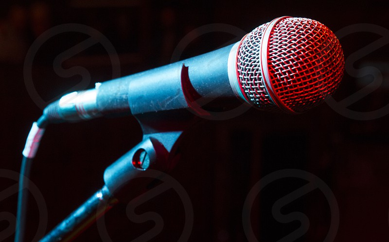 Microphone used during a concert photo