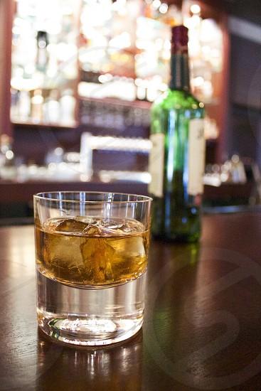 Irish whiskey bar bottles alcohol photo