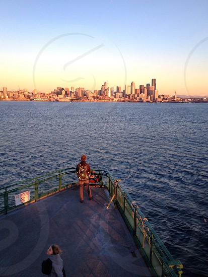 gray boat deck photo