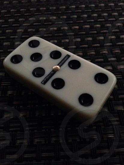 focused photo of domino photo