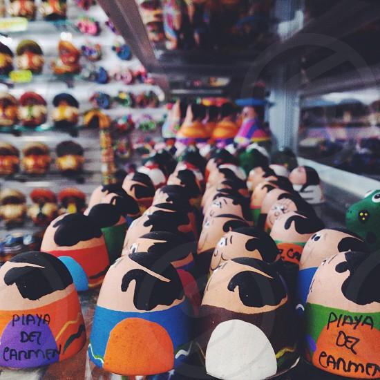 multicolored piaya diez carmen printed stuffed toy  photo